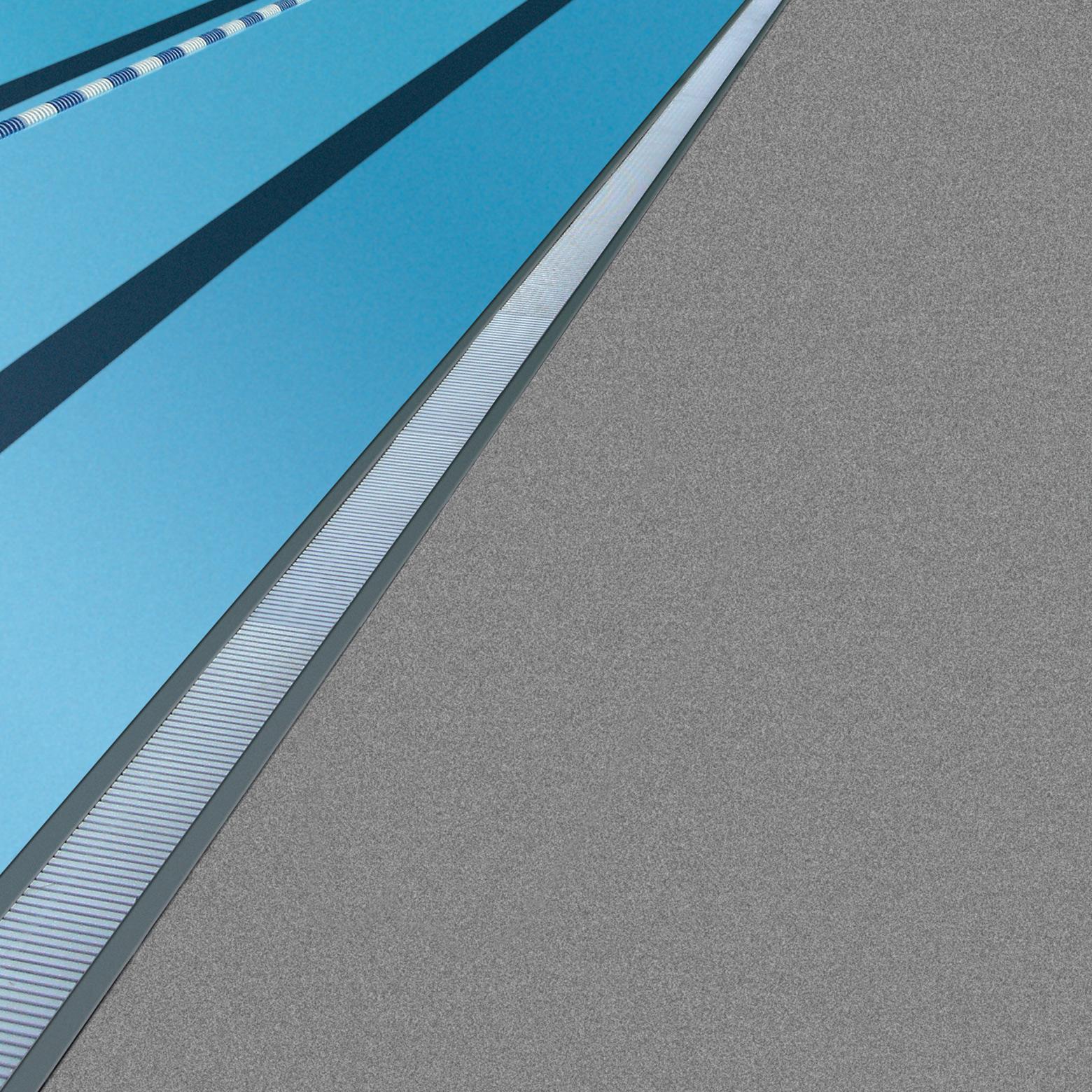 PVC pool deck.